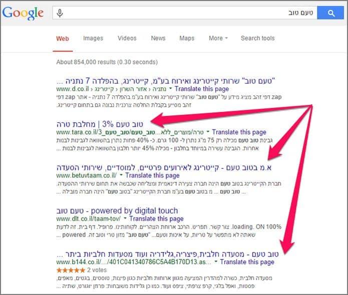 חיפוש מתקדם בגוגל: ביטוי לא מדוייק